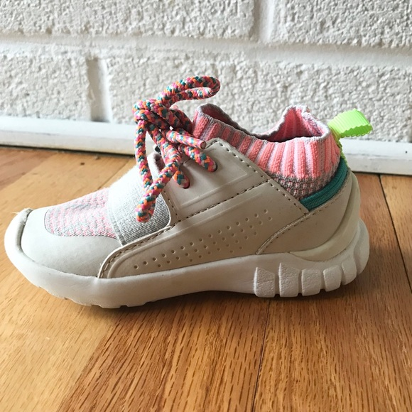 Zara Other - Zara Sock Sneakers Size 21 Colorful Pink Orange